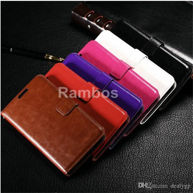 New Retro Crazy Horse PU Leather Wallet Flip Cover Credit Holder Stand Phone Case for Nokia Lumia 630 730 830 535