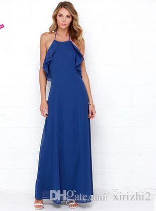 Großhandel Kurze Design Sexy Backless Frauen Lange Kleider Double ...