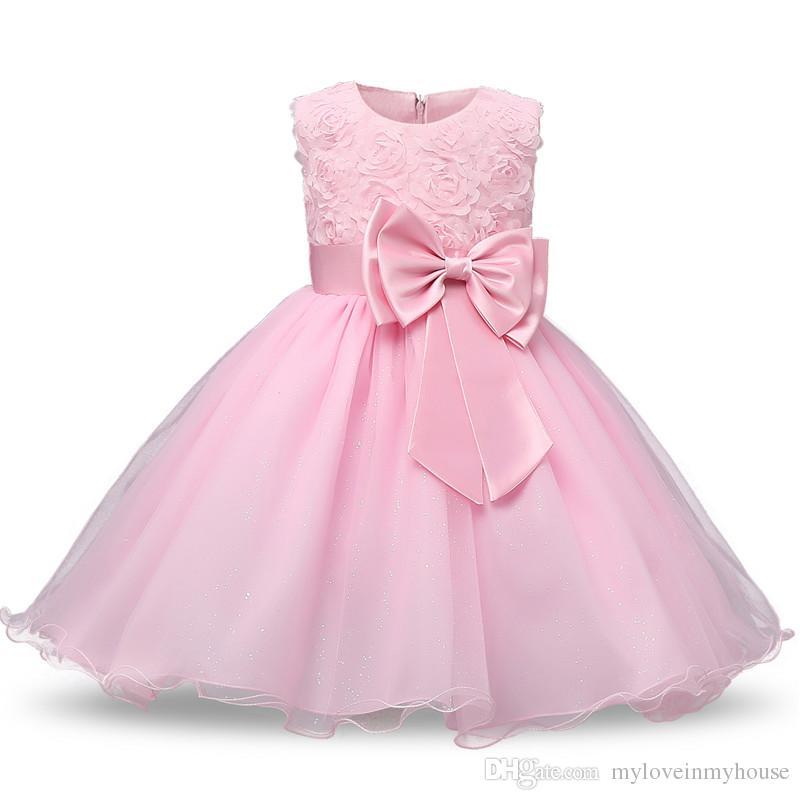 Compre Princess Flower Girl Dress Verano 2017 Tutu Boda Vestidos De ...