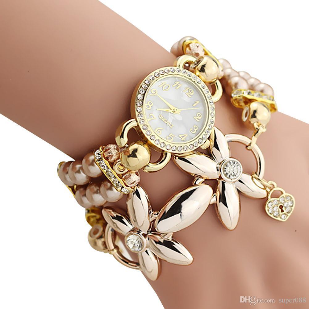 Großhandel Armband Uhr Frauen Dame Mode Quarz Uhr Weibliche Uhr ...