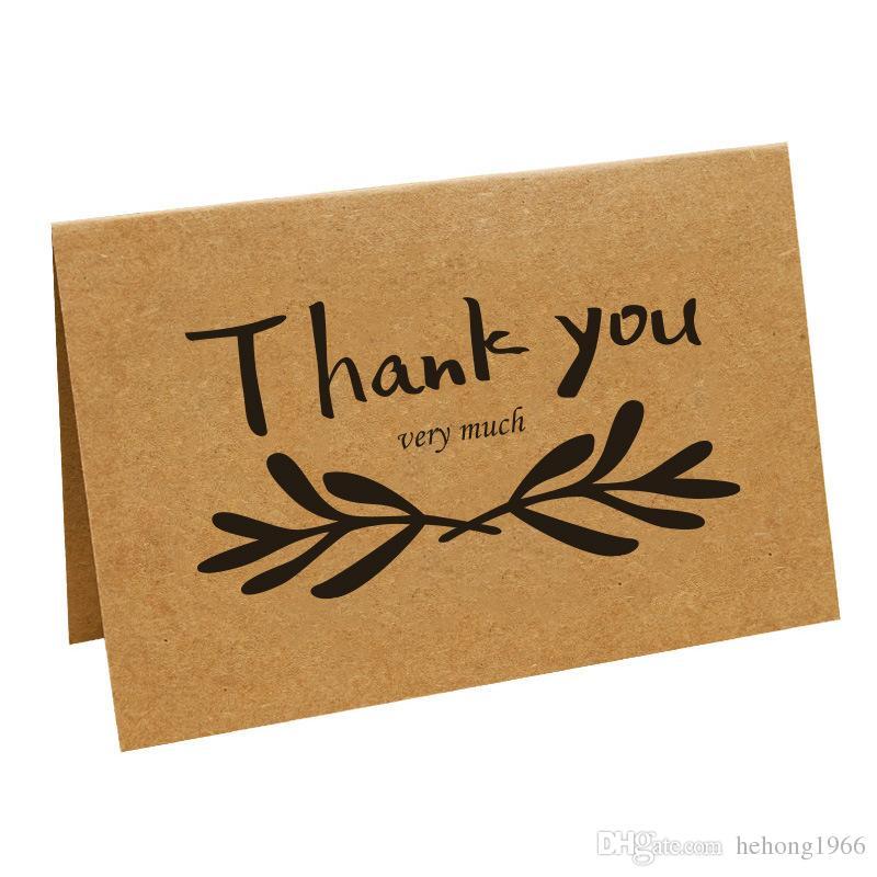 DIY Nimet Tebrik Kartları Vintage Kraft Kağıt Teşekkür Kartı Düğün Festivalleri Parti Makaleleri Birçok Stilleri 0 7pn C R