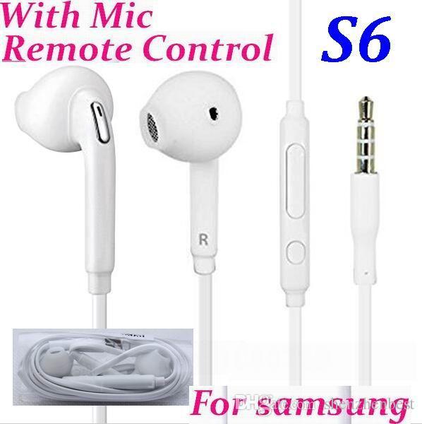 / * auricular en la oreja 3.5mm con control de volumen con micrófono para Samsung Galaxy s6 borde S7 s5 s4 s3 nota 5 4 3