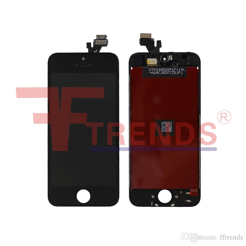 for iPhone 5 LCD Display & Touch Screen Digitizer Full Assembly with Earpiece Anti-dust Mesh Installed + Free Repair Tools
