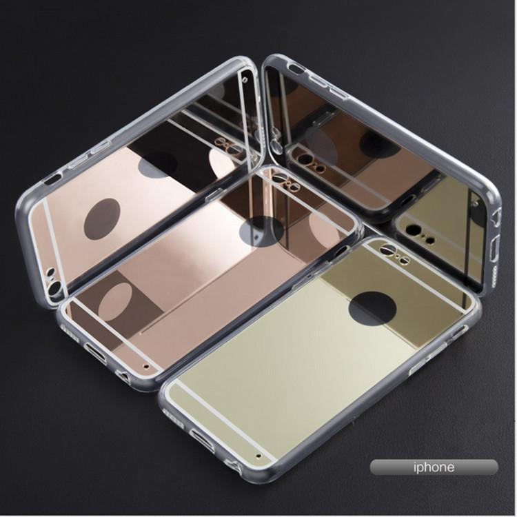 iphone 5s gold case for girls. iphone 6s case luxury ultra-thin mirror electroplate rose gold cases clear tpu bling view for 5 5s se 4s 6 6s plus cosmetic girl girls n