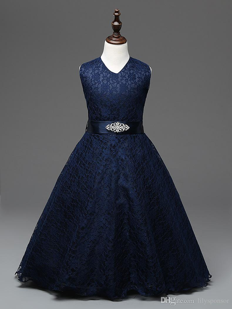 Fashion cheap junior bridesmaids dresses for kids navy blue see larger image ombrellifo Images