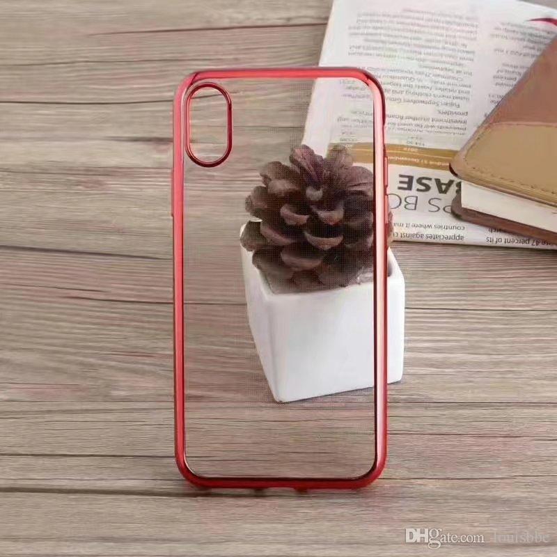 Casos macio TPU para iPhone 11 Pro xs max Caso chapeamento macio TPU celular transparente do telefone capa para o iPhone x xr 8 7 mais telefone caso