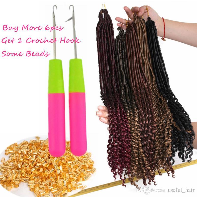 GODDESS LOCkS CROCHET BRAIDS hair 18inch 24strand/pcs faux locs braids hair extensions synthetic braiding hair DREADS MARLEY TWIST
