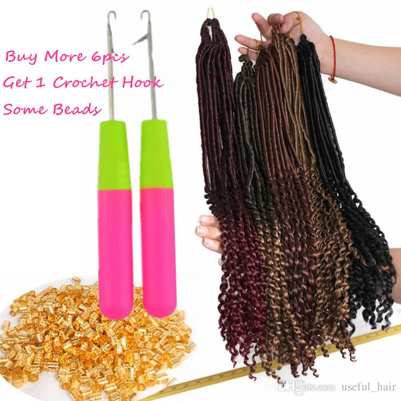 NEAT PRELOOP Havana Mambo Dreadlocks GODDESS CROCHET BRAIDS 18inch faux locs braids hair extensions synthetic braiding hair Janet Collection