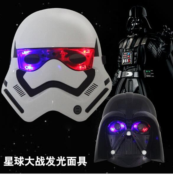 star wars masks darth vader mask halloween masks led festival horror mask mask plastic scary mask halloween costumes masquerade masks men ball mask for men - Halloween Darth Vader