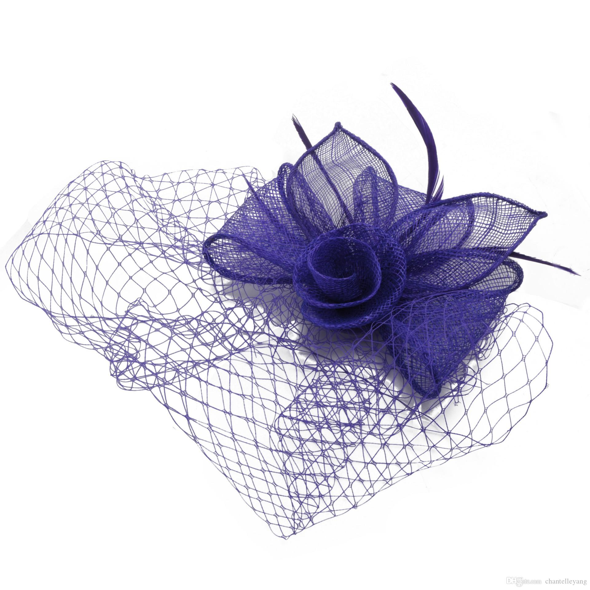 simple and Vintage Fascinators Bridal Hats Flower Church Hat 2017 Cheap Handmade Custom Women Headpiece Hair Accessory For Wedding