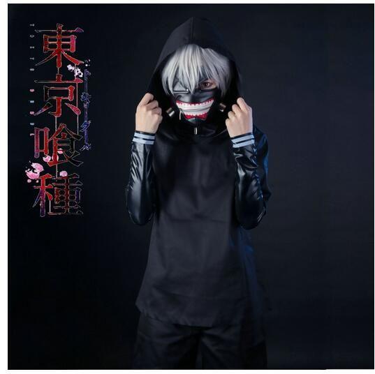 Kaneki Ken Costume Tokyo Ghoul Kaneki Ken Cosplay Black Mens Tokyo