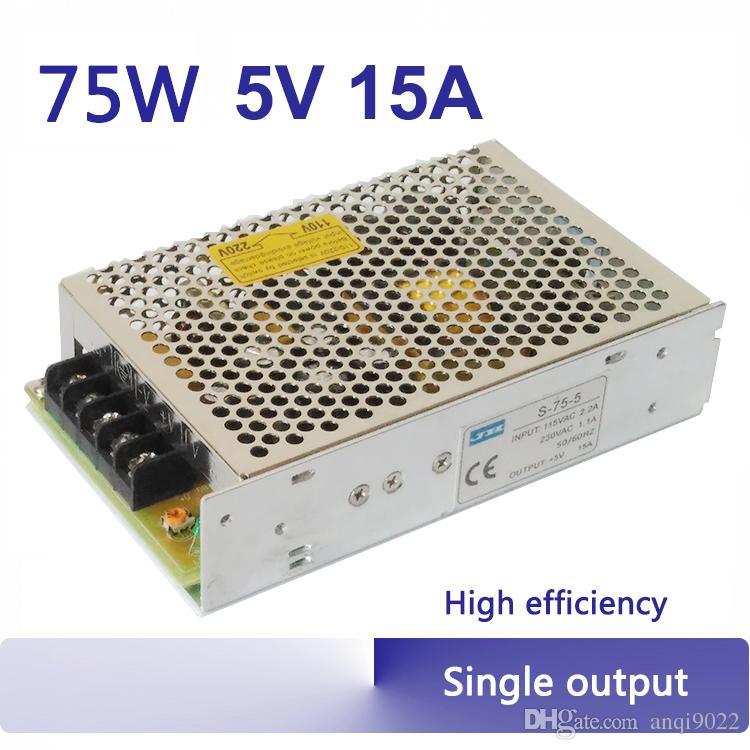 75w 5v 15a switching power supply 75w regulated linear psu single rh dhgate com