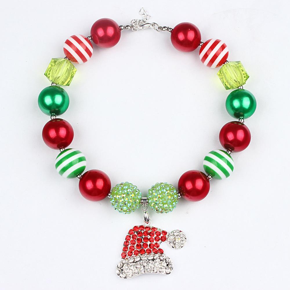 Hot Children Jewelry Christmas Chunky Necklace Christmas Bubblegum ...