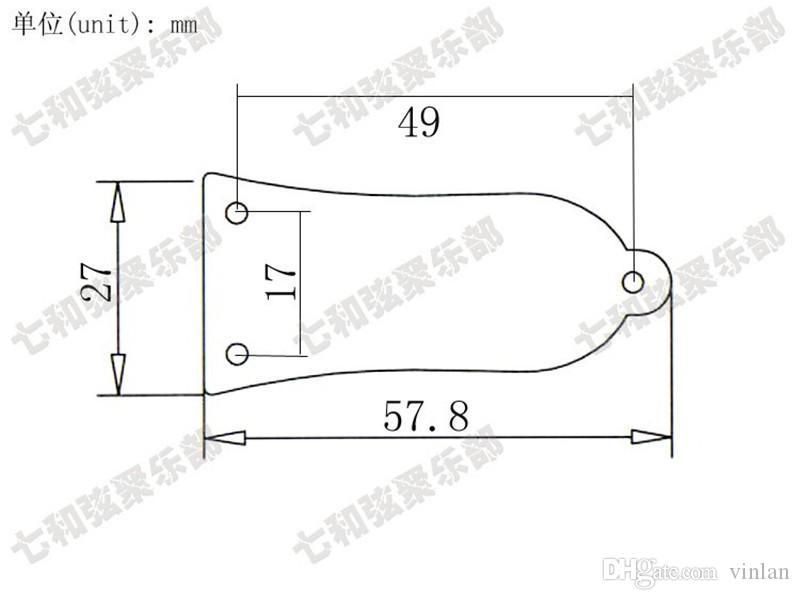 Basso elettrico 3 fori Piastra di copertura truss rod in metallo cromato nero dorato scegliere parti di chitarra accessori