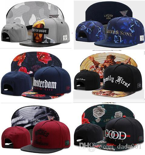 294cb824 wholesale Newest Design Cayler & Sons Snapback Caps- Hip Hop Streetwear  Snapbacks Custom any Hats Sport Snap backs Professional Caps Factory
