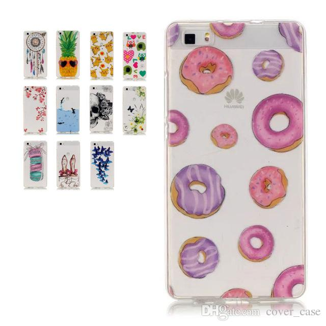 cute huawei cases. cool for huawei p9 lite cute fruit case silicon clear transparent imd pattern painting soft silicone back cover customized cell cases a