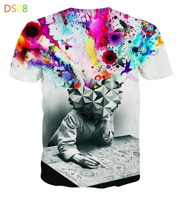 2016 hombres hip hop camiseta 3d animal impreso lion head camiseta para hombre 3d camiseta