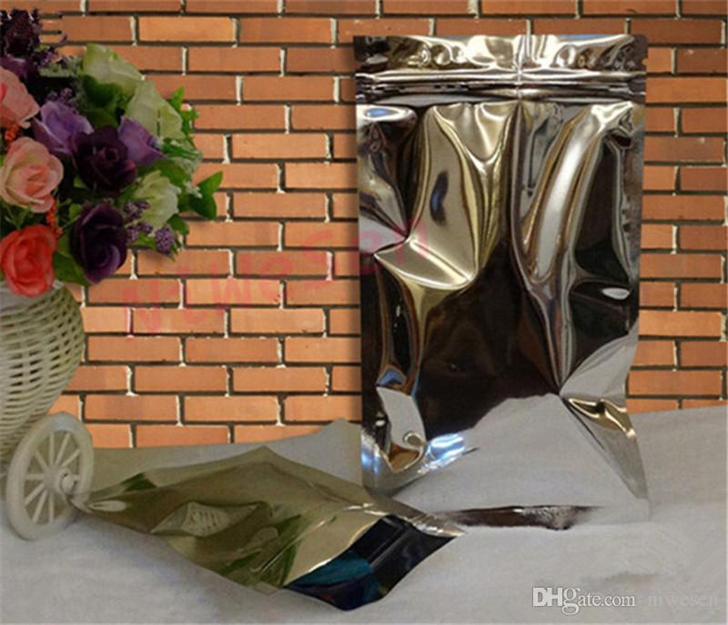 12x20cm aluminum foil ziplock bag grip sealed zipper bag dust-free dry flower reclosable storage bag