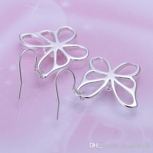 /LotFree shipping Wholesale 925 Sterling Silver Plated Fashion women Earrings Jewelry For Gifts E011
