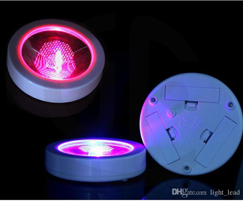 Funzionamento a batteria LED Light Up Coasters Forma rotonda leggera Flash Mat Mat Club Bar Regalo di Natale