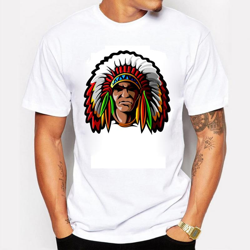 New summer american indian design men 39 s t shirt classic for Crazy t shirt designs