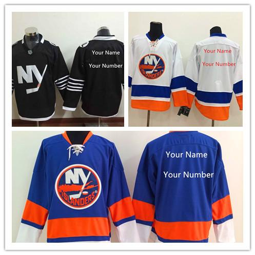 low priced 29eea a8d32 Cheap Mens New York Islanders Alternate Jersey Black White Blue Customized  NY Islanders .