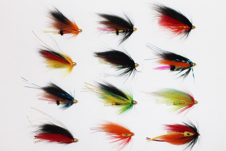Tigofly 12 шт. / Лот Ассорти Tube Fly Набор Для Лососевой Форели Steelhead Fly Fishing Мухи Приманки Набор