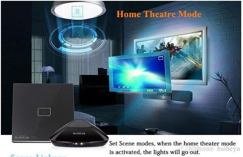 Broadlink TC2 Gang Wireless Wifi Remote Wall Touch Screen Light Smart Switch Home Controller Automation By IOS Android