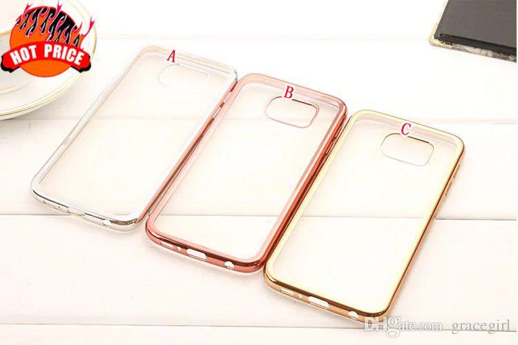 Electroplate Bling Soft TPU Case For Samsung Galaxy S9 PLUS J5 J7 Prime S5  S7 S6 EDGE NOTE 5 A7 A8 A9 Clear Transparent Skin Cover Fashion Mobile Phone  ... 9e3f6e646180