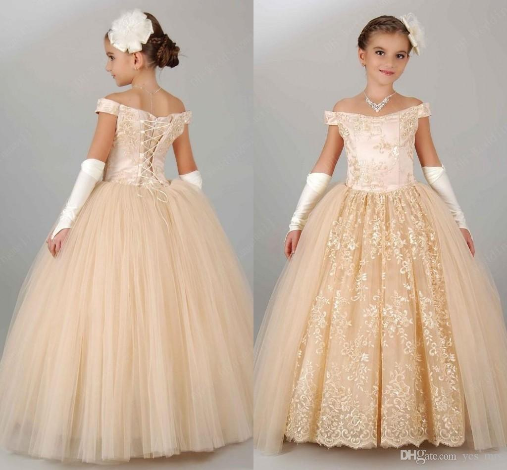 Champagne Pageant Dresses