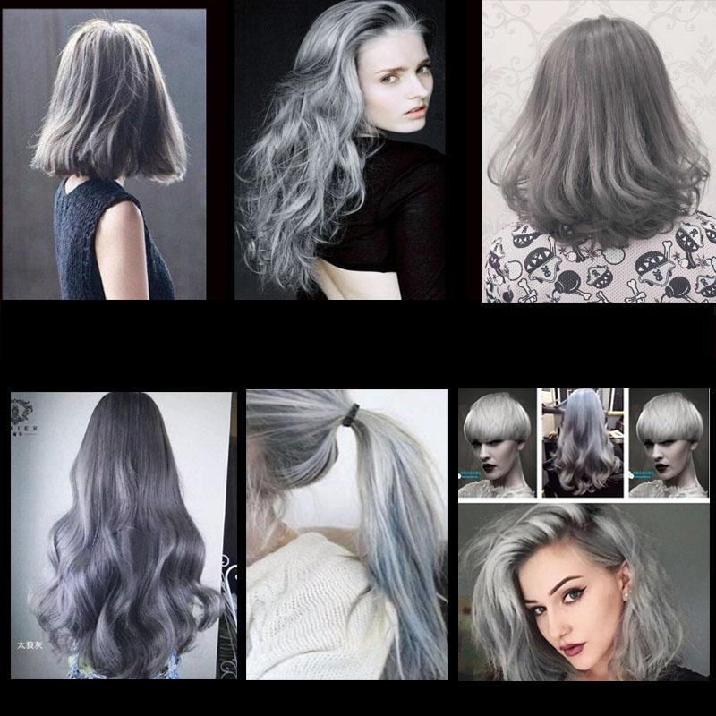 Hot Grandma Grey Hair Color Cream Light Gray Hair Cream Color