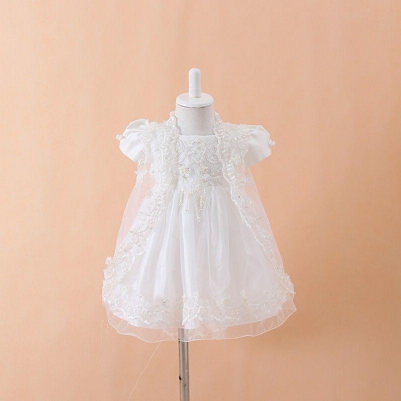 Vestidos de fiesta de bautizo para niñas bebés + Sombrero + Vestidos Infantis Princesa Wedding Party Lace Dress para el recién nacido Bautismo