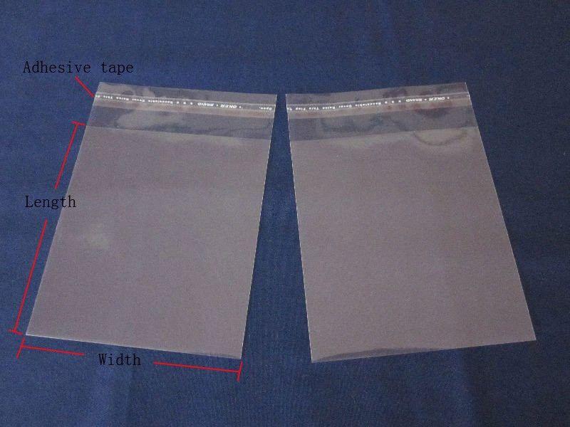 100 peças / lote 20 * 30 cm autoadesivo selo OPP saco-todos os sacos de plástico transparente de poli sacos / tecido / embalagem de presente bolsa self-selada por cola