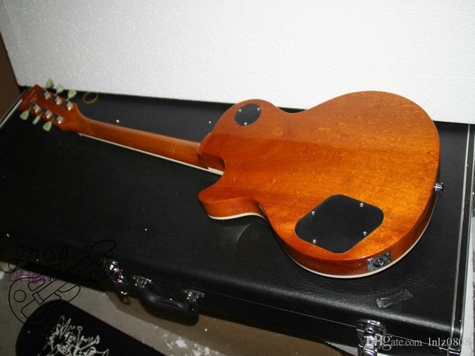 Chitarra elettrica all'ingrosso Honey Burst chitarra elettrica corpo in mogano di alta qualità a buon mercato