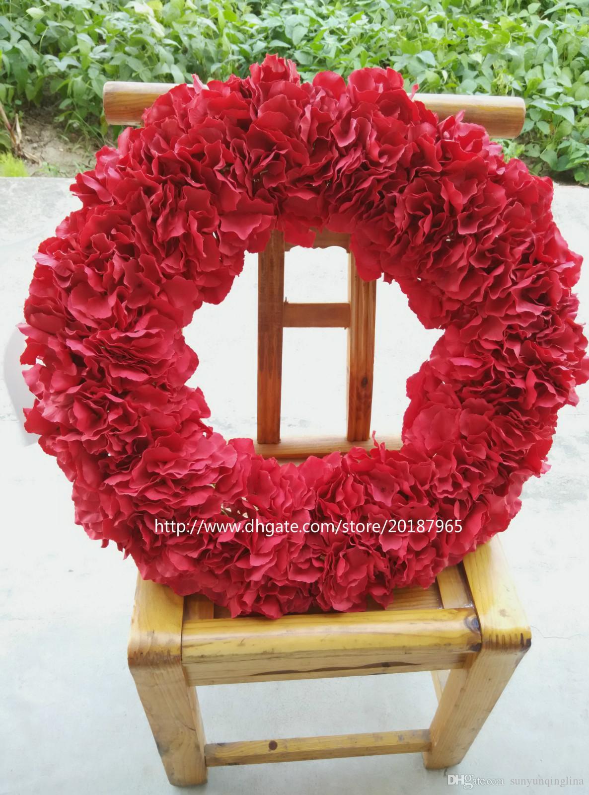 2018 Hot Red Hydrangea Wreath 20 Inches Winter Spring Wreath Xmas Wreath  Front Door Mounted Wreath Wedding U0026 From Sunyunqinglina, $71.36   Dhgate.Com