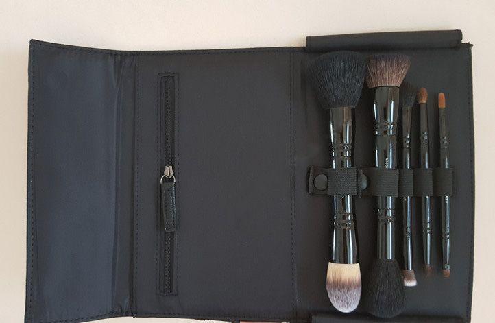 Kevyn aucoin o conjunto de escovas de viagem 5-pcs dupla-terminou escovas original qualidade beleza cosméticos maquiagem escova blender dhl frete grátis