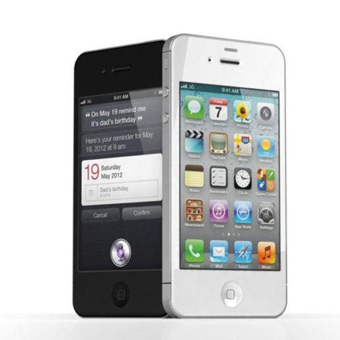 100% recondicionado original apple iphone 4s telefone celular ios 8 dual core 8 gb / 16 gb / 32g 3.5 polegadas Câmera de 8MP WI-FI 3G GPS Smartphone