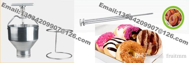 무료 배송 스탠드 홀더가있는 스테인레스 스틸 핸드 헬드 팬케이크 도너츠 도넛 형 예금제 스포이드 디스펜서 커터 메이커