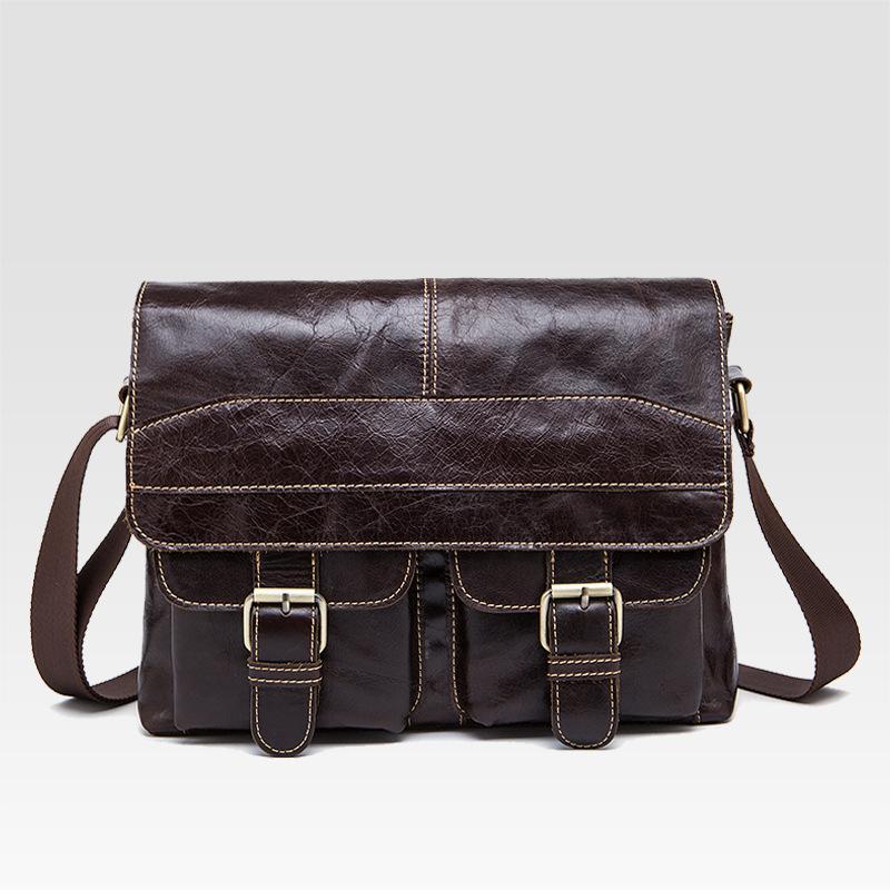 af98ad350945 Wholesale 2016 Hot Sale Men Bags Real Leather Briefcase Portfolio Genuine  Leather Handbags Laptop Bags Vintage Messenger Shoulder Tote Bag Briefcases  For ...