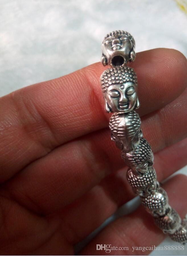Бесплатная доставка китайского Тибетского серебряного Будды браслет из бисера в Тибет C2
