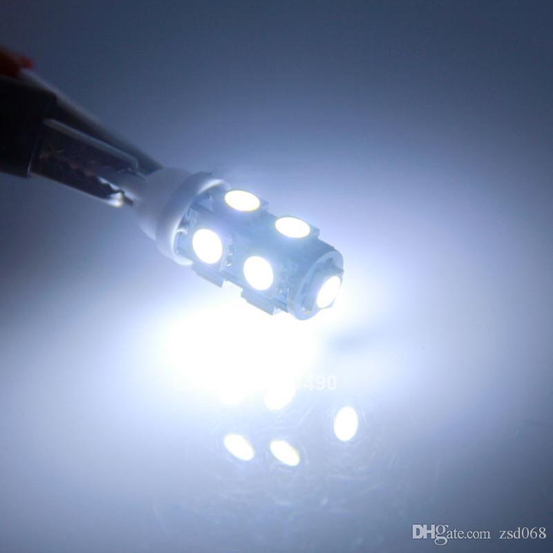 Blanc Rouge JAUNE BLEU ROSE ICE-BLUE T10 9-SMD 5050 Dôme intérieur W5W LED ampoule 921 912 906 Lumineux