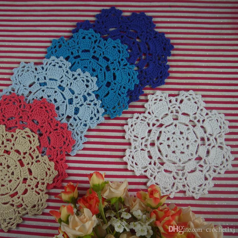 20 napperons de mariage rond, napperons au crochet pour mariage, centre de table de mariage nappe pour décoration de mariage à la maison