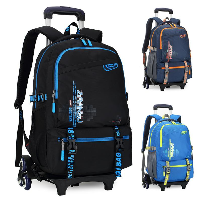 New Kids Trolley School Bags Boys Children Removable Backpack 2 6 ...