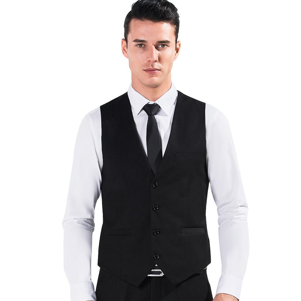 2017 2017 Black Color Men Suit Dress Vests Men'S Fitted Leisure ...