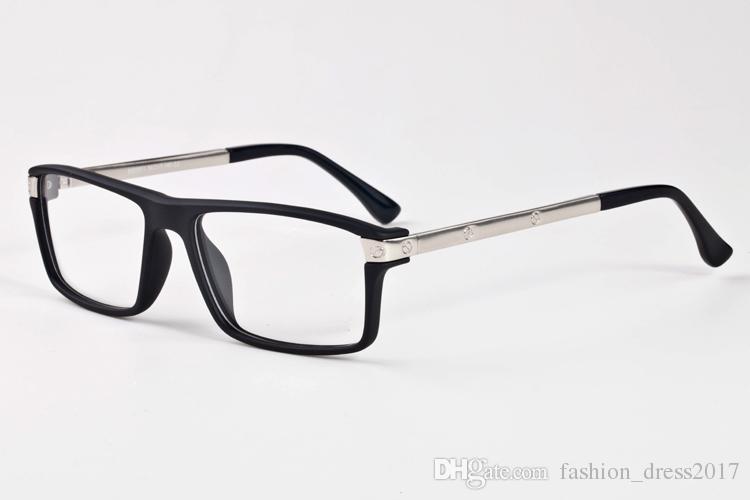 lo último c4dbe a7da8 Compre Gafas De Sol De Diseño Para Hombre Para Mujer Gafas De Cuerno De  Búfalo Lentes Rectangulares De Espejo Claro Con Gafas De Caja De Hierro  Negro ...