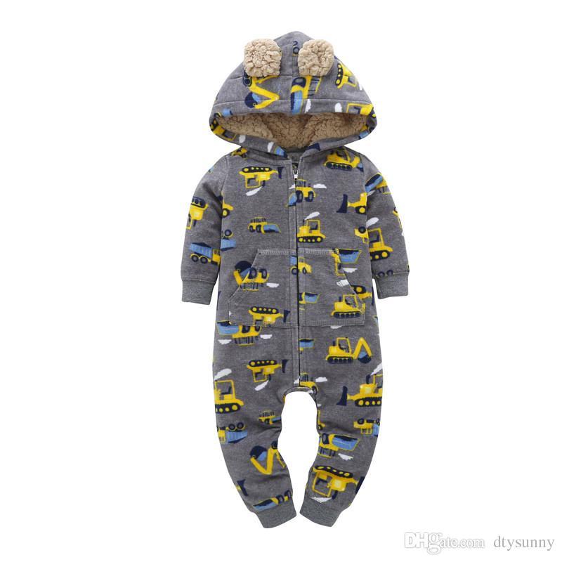 Baby Jungen Mädchen Strampler Neugeborenen Body Langarm Strampler Onesies Striped Kinder Overalls Mädchen Mit Kapuze Strampler Baumwolle Baby Kleidung