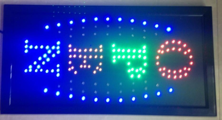 Direct Selling 10x19 Inch Semi-outdoor Ultra Bright flashing led open sign led billboards led display Wholesale