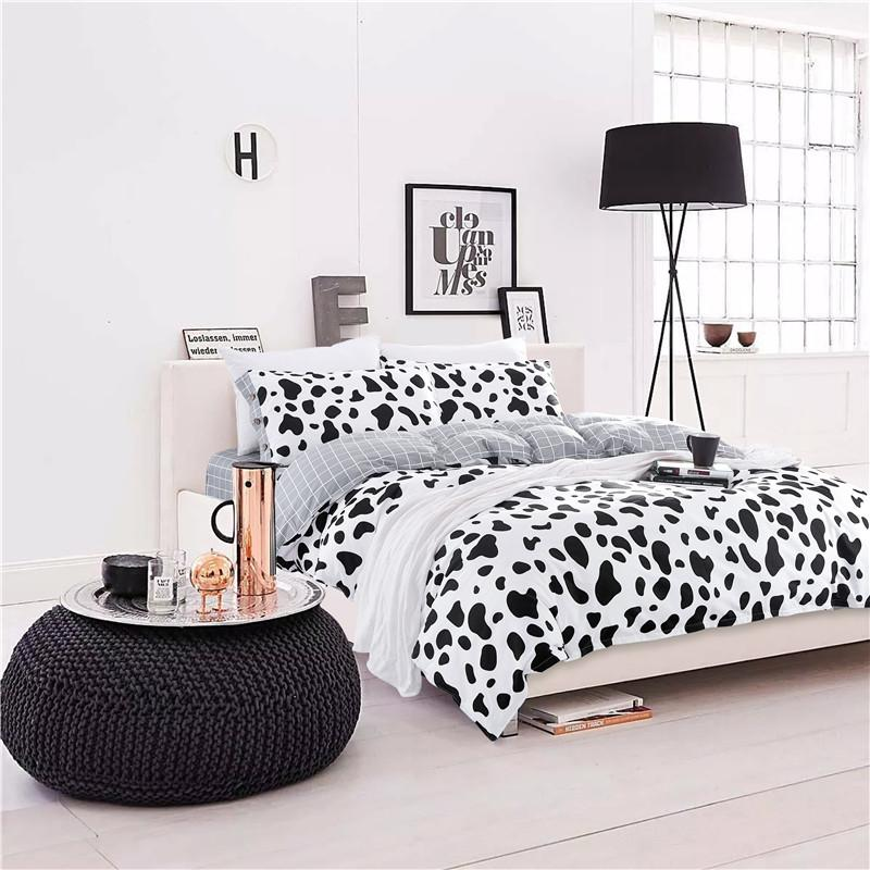 Cute Cow Spots100% Cotton Bedding Set 3/Family Bedding Set Bed Sheets Duvet  Cover Pillowcases Bedclothes No Comforter California King Bedding Yellow  Bedding ...