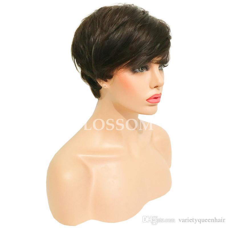 100٪ غير المجهزة الشعر الإنسان الكامل الرباط الباروكات / الرباط الجبهة الباروكات مع شعر الطفل 8A الموجة الطبيعية البرازيلي الانسان الشعر شعر مستعار للنساء السود