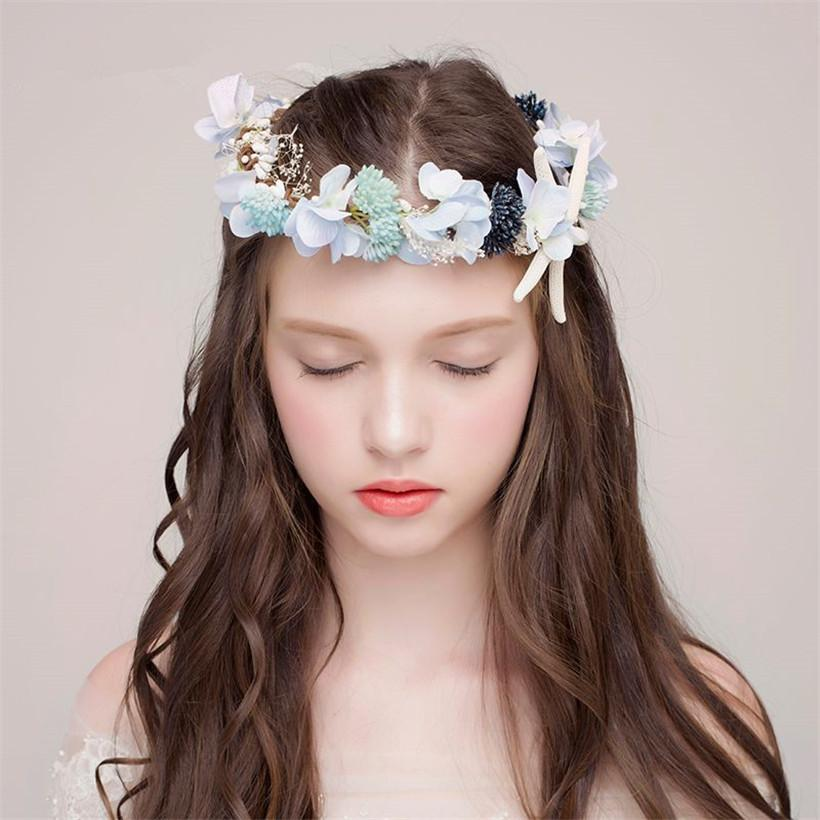 Wedding Bridal Flower Starfish Headpiece Boho Style Floral Flower Crown  Headband Women Fashion Prom Hair Garland Hair Accessories Jewelry Canada  2019 From ... 8f54a3b0512